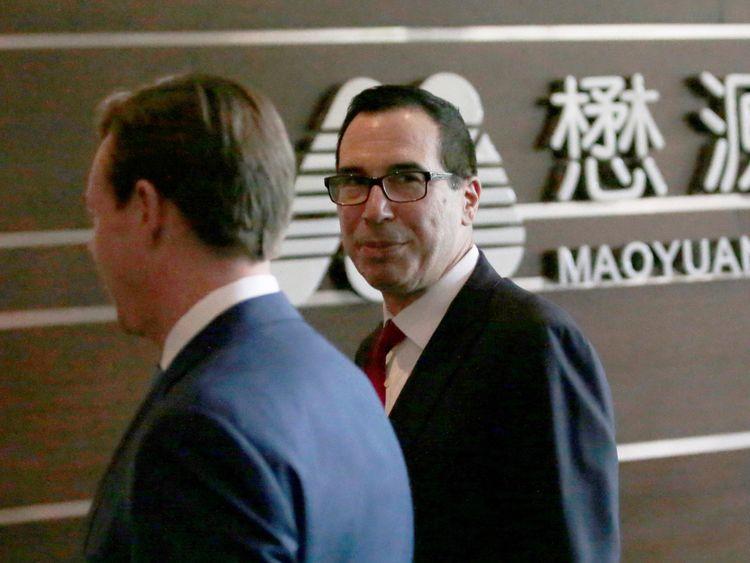 US Treasury Secretary Steven Mnuchin in Beijing