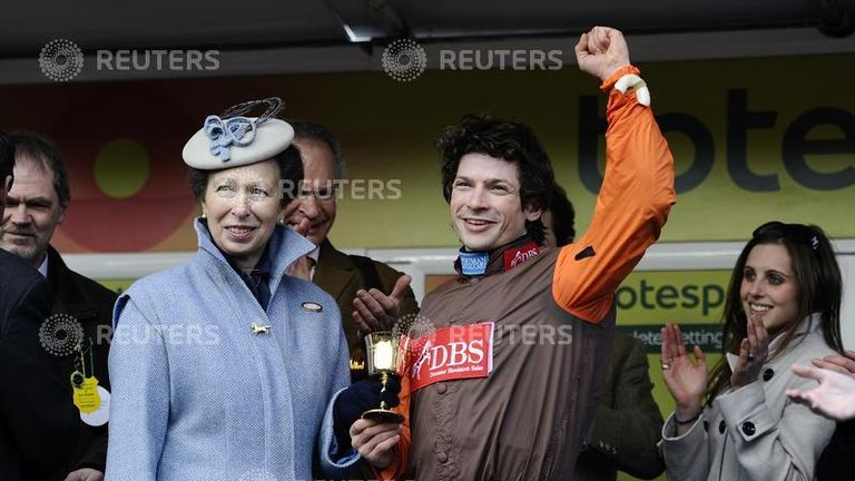 Jockey Sam Waley-Cohen won the Gold Cup riding Long Run