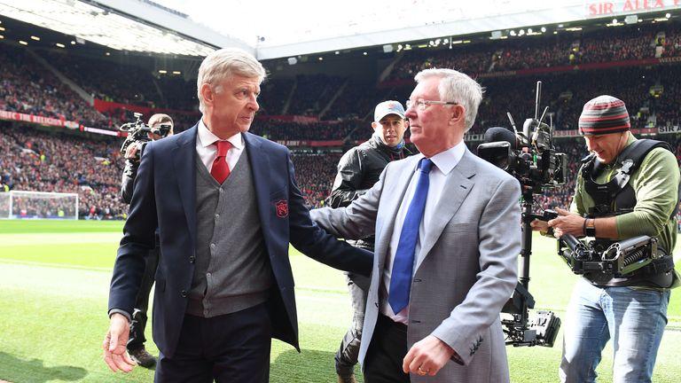 Sir Alex Ferguson with Arsene Wenger last weekend