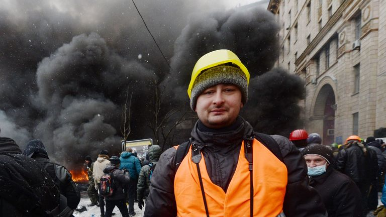 The Kremlin critic supported an uprising in Kiev that ousted a Moscow-backed regime in 2014
