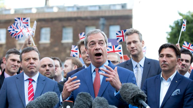 Arron Banks, Nigel Farage and Andy Wigmore