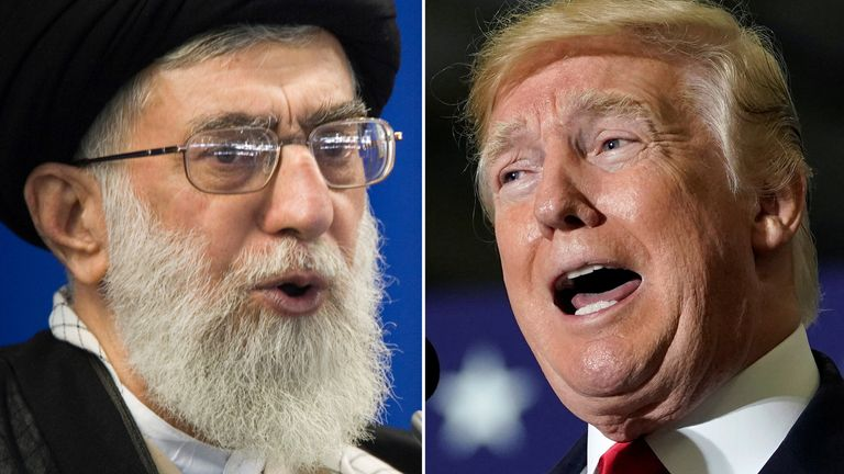 Ayatollah Ali Khamenei and Donald Trump