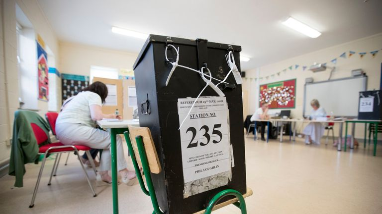 Ballot box in Co Donegal