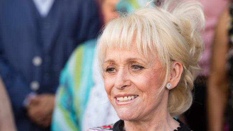 2c4f927607cd Barbara Windsor attends the inauguration of the Hackney Empire Walk Of Fame  on May 25,