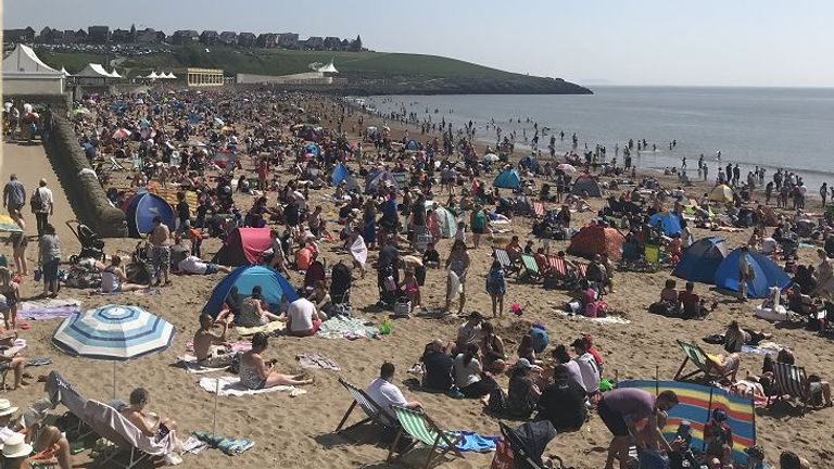 Making the most of it on Barry Island, Wales