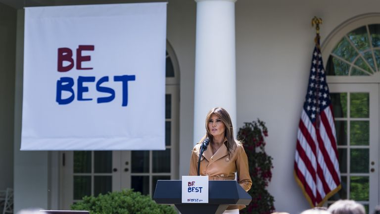 First Lady Melania Trump announced the launch of her BE BEST initiative