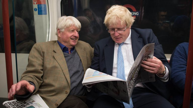 Boris Johnson and Stanley Johnson