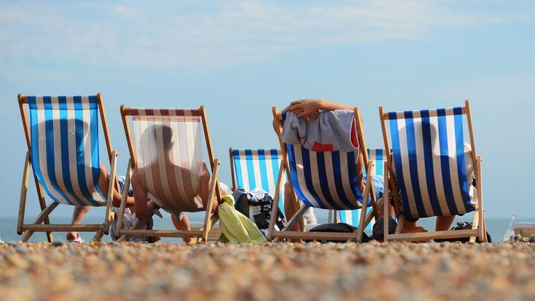 at Brighton beach on August 1, 2013 in Brighton, England.