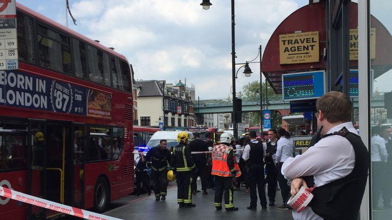 Emergency services near Brixton station
