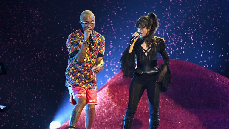 Camilla Cabello performed with Pharrell Williams hours before she announced she had been hopistalised