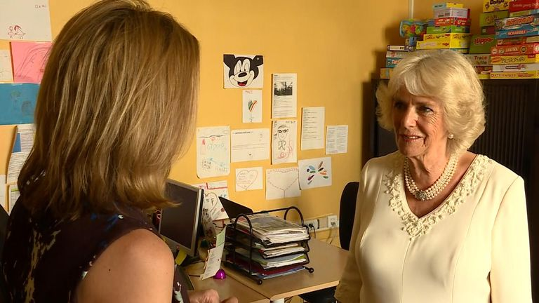 The Duchess of Cornwall has spoken exclusively to Sky News about how knowing people who'd suffered from domestic abuse was one of the reasons why she wanted to draw attention to the issue of domestic violence.