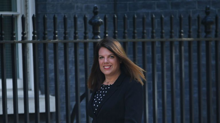 Minster of State for Immigration Caroline Nokes arriving in Downing Street for a Cabinet meeting