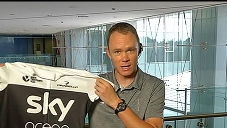 Team Sky's Chris Froome says they are 'fully behind' Sky's pledge to remove single-use plastics from business operations by 2020