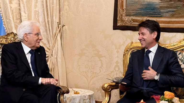 Mr Conte has met with the Italian president. Credit: @Quirinale