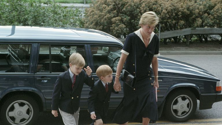 William, Harry and Diana visit the Queen's Medical Centre, Nottingham