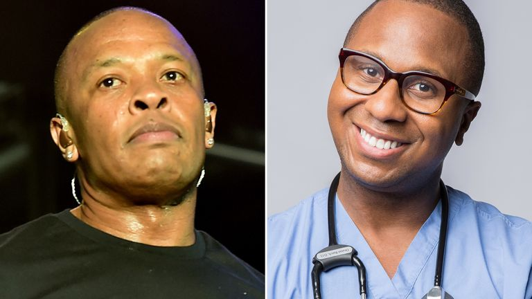 Dr Dre (L) objected to Dr Drai's trademark application. Pic: Getty/Omar Farlow