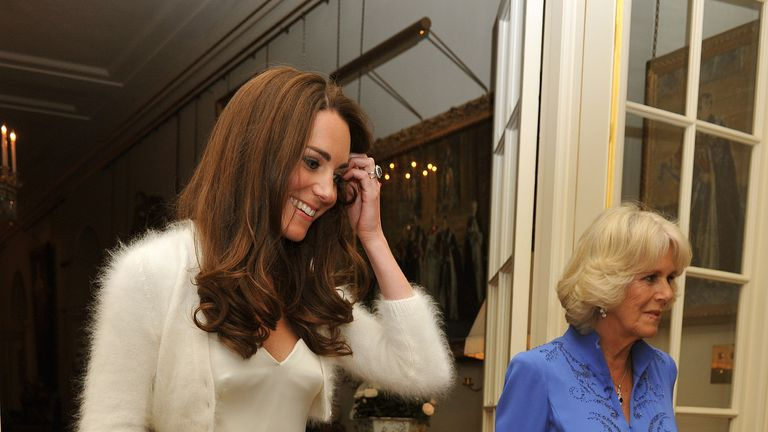 Kate changed out of her wedding dress and into an evening gown for her wedding reception