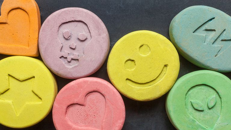 MDMA was used in varying doses alongside psychotherapy. File pic