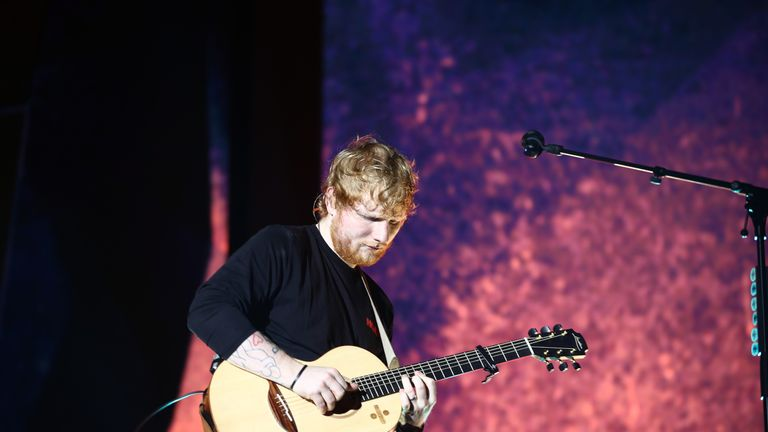Ed Sheeran performs at Mt Smart Stadium in Auckland