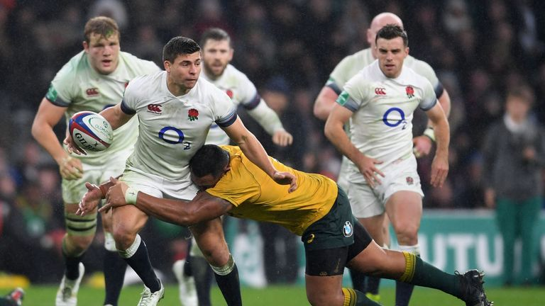 Ben Youngs (c) pulled out of the British and Irish Lions squad following Tiff's diagnosis