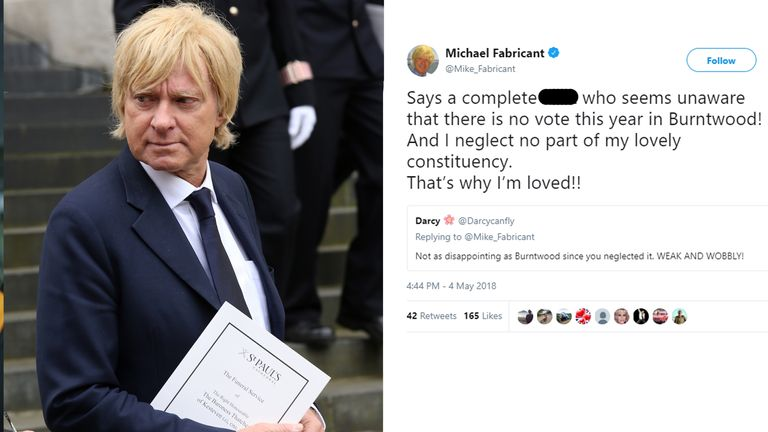 Michael Fabricant MP called a Twitter user a slur