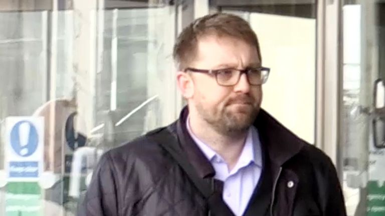 James Titcombe arrives at a NMC disciplinary hearing of of Furness General Hospital midwives in 2016.