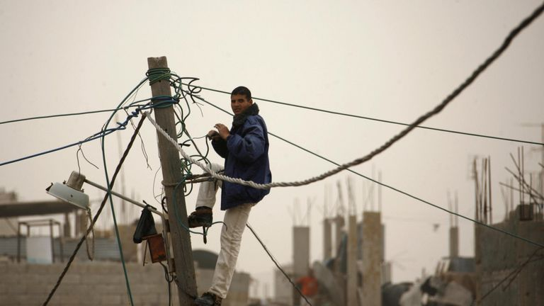 Gaza is plagued with regular prolonged power outages