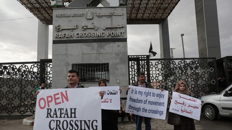 Gazans are also restricted by the Rafah crossing with Egypt