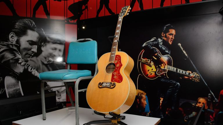 Elvis Presley's Gibson J200 guitar from a 1968 TV special