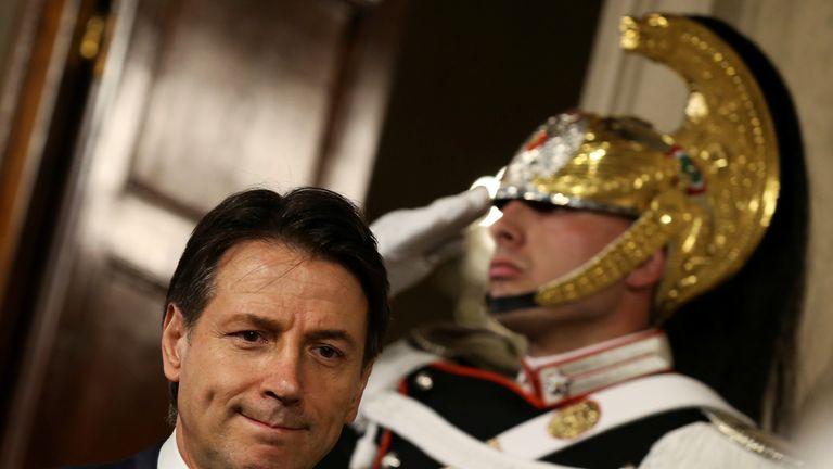 Italy's Prime Minister-designate Giuseppe Conte