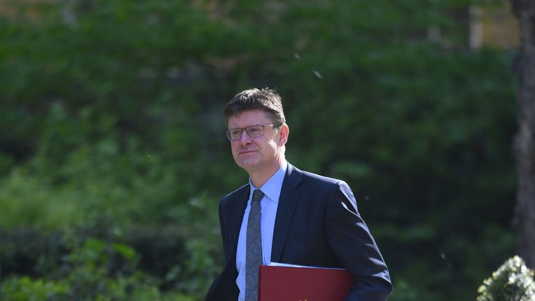 Business Secretary Greg Clark arriving in Downing Street for a Cabinet meeting