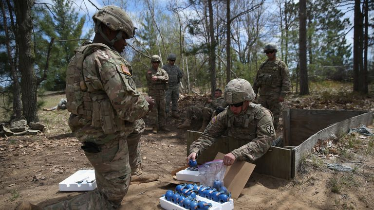 Th box of grenades fell off the back of a humvee