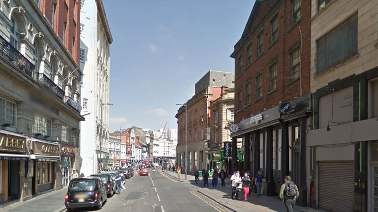 The 20-year-old victim suffered a fatal knife wound on Hanover Street. Pic: Google Street View