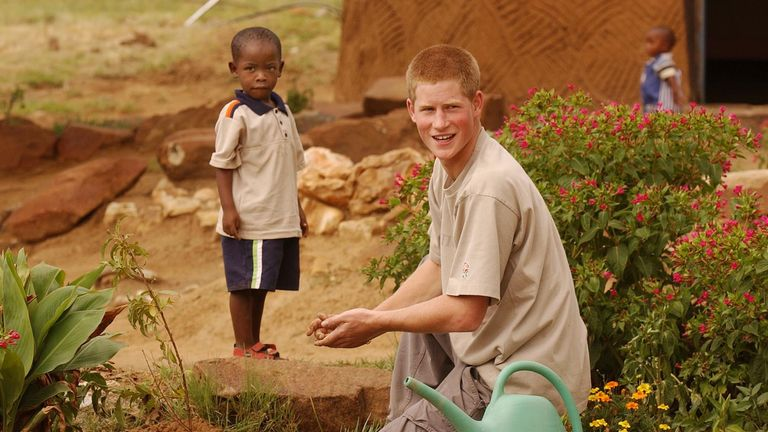 Harry working with orphans in Lesotho