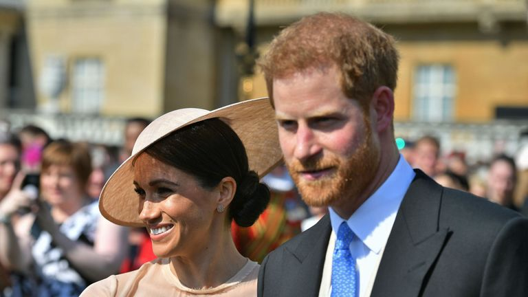 Meghan Markle and Prince Harry pictured at first official royal ... 86d8e42f0fc9