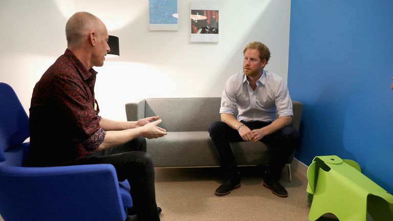Harry has had to chat to psychotherapists as part of his work with charities