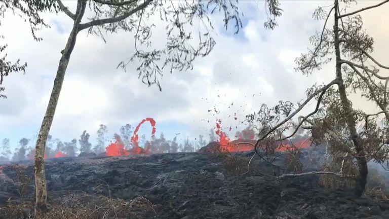 Hawaiian volcano