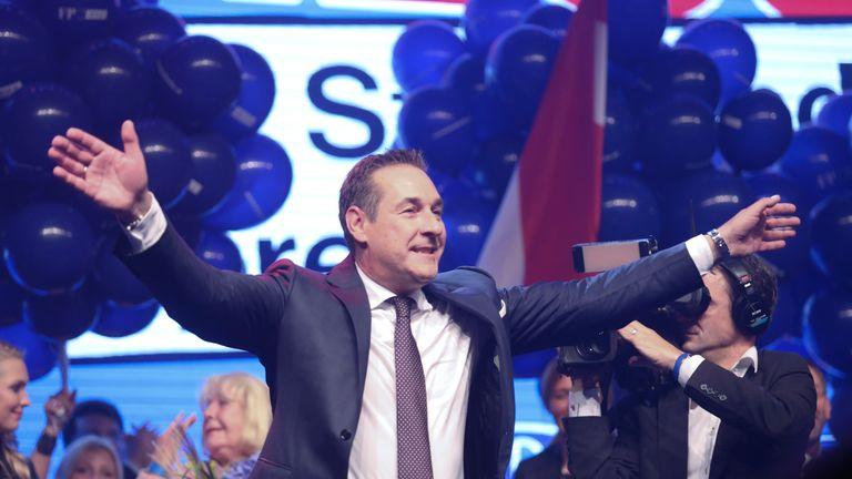 Austria vice-chancellor Heinz-Christian Strache