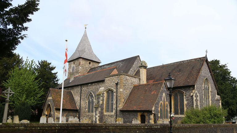 St Marys Church in St Mary Cray near Orpington, Kent where the funeral is due to take place