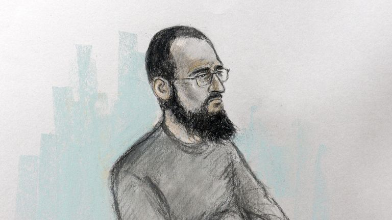 Husnain Rashid, 32, is accused of seven terror charges