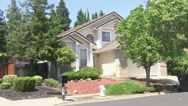 Wide view of home where children lived in Fairfield, California. They say they were abused.