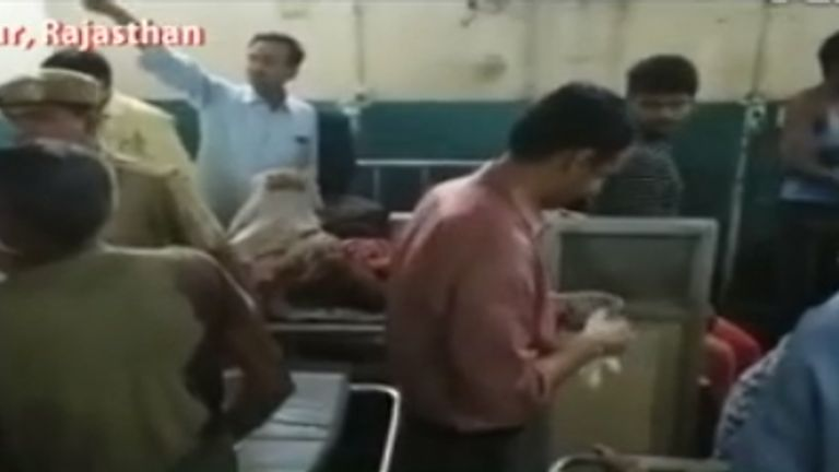 The injured are treated in Bharatpur. Pic: NDTV
