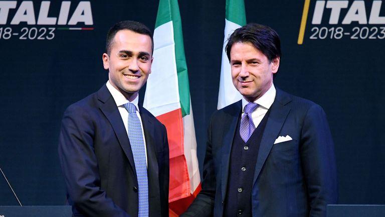 Luigi Di Maio appointed Mr Conte as a future minister