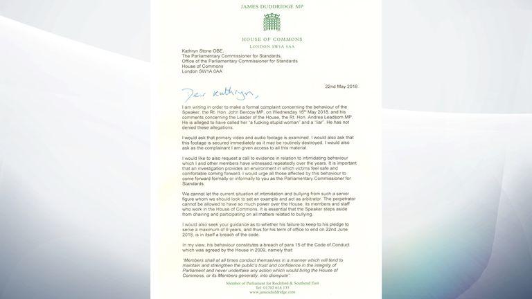 James Duddridge letter to Kathryn Stone