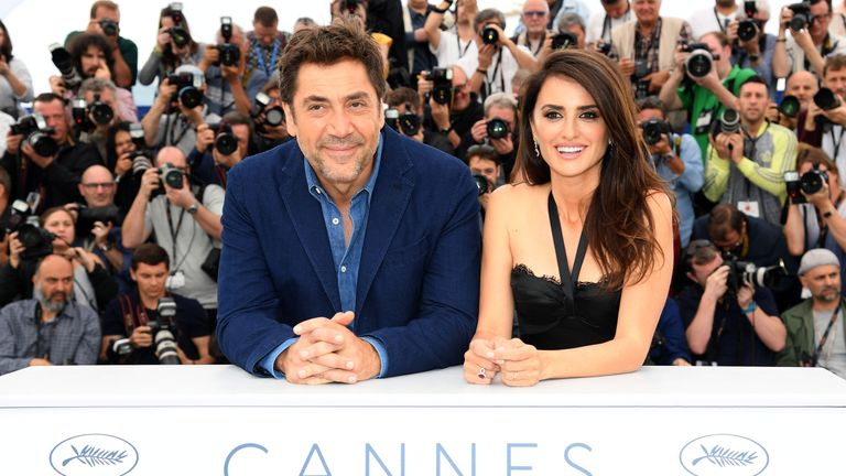 Actor Javier Bardem and actress Penelope Cruz, wearing jewels by Atelier Swarovski Fine Jewelry, attends the photocall for 'Everybody Knows (Todos Lo Saben)' during the 71st annual Cannes Film Festival at Palais des Festivals on May 9, 2018