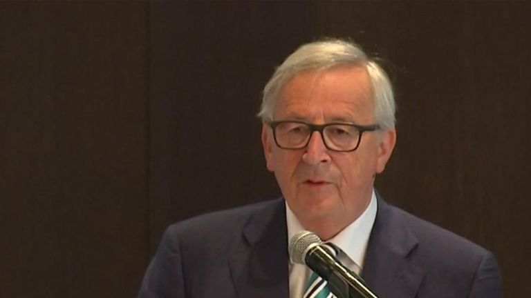 Jean-Claude Juncker calls unilateral US trade tariffs 'unacceptable'
