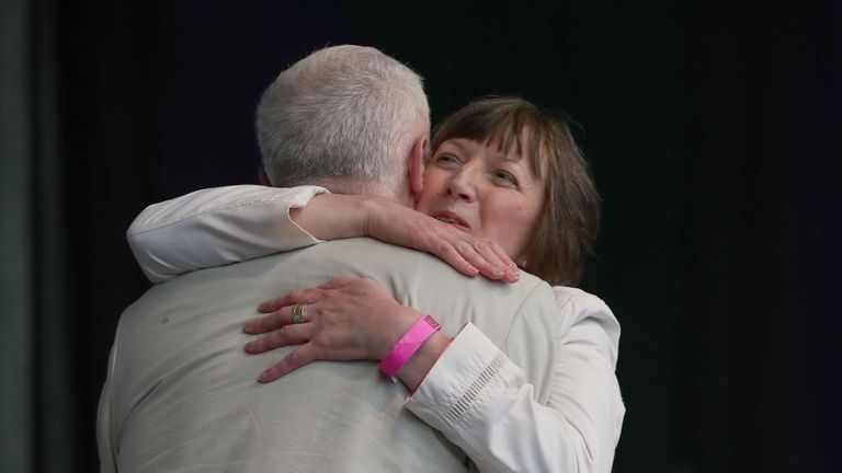 Frances O'Grady and Jeremy Corbyn