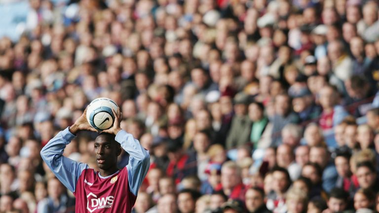 Samuel played 169 times for Aston Villa