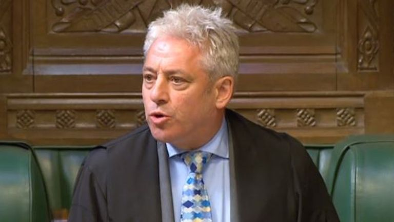 House of Commons Speaker John Bercow
