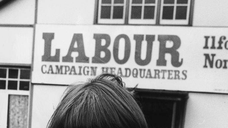 Tessa Jowell during her campaign to become MP for Ilford North in 1978
